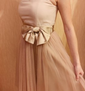 Вечернее платье миди, платье на выпускной