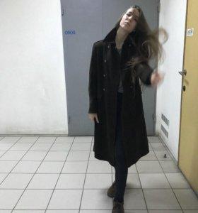 Длинное пальто китель