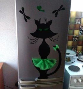 Интерьерная наклейка на холодильник