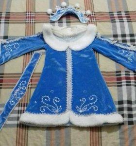 """Детский костюм """"Снегурочка"""" 32 размер"""