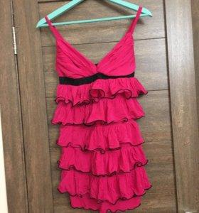 Платье-топ с рюшами