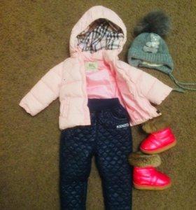 Стильная куртка, шапка и ботиночки!