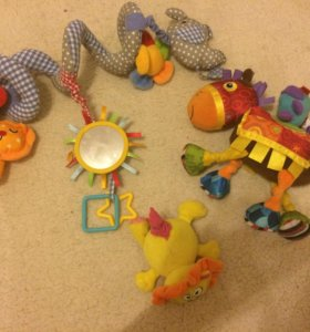 Развивающие мягкие игрушки шуршалки