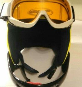 Горнолыжный шлем SH+ вместе с очками wed'ze