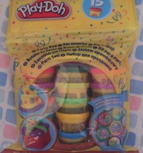 Пластилин 15 баночек play-doh