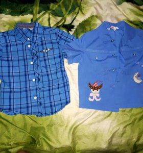 Рубашки,кофта и штаны зимние 80-86