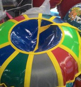 Тюбинг 100 см диаметр разные цвета пвх верх и низ