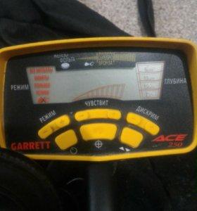 Металлоискатель Garrett Ace 250 + катушка Detech