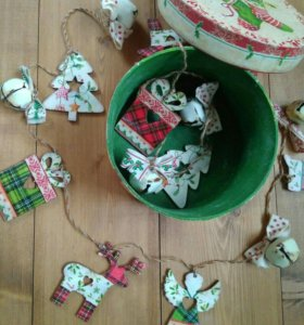 Гирлянда новогодняя, рождественская на ёлку