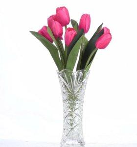 Искусственный тюльпан, букет из 9 цветков