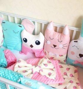 Игрушки-Бортики в кроватку