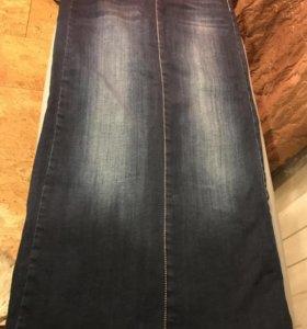 Юбка джинсовая 42-44р.
