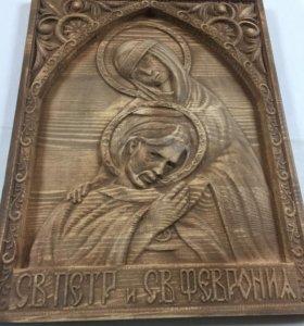 Икона св.Петр и св.Февронья 35*27