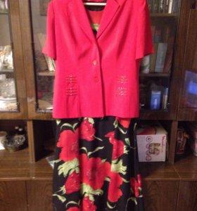 Платье+ пиджак р48