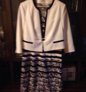 Платье +пиджак р48