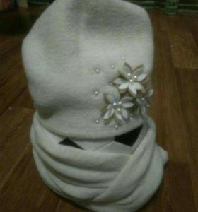 Новая шапка + снуд