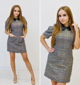 Шерстяное платье мини