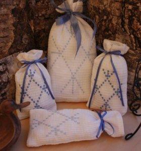 Мешочки с вышивкой