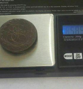 Богатырь.Вес монеты больше стандарта.