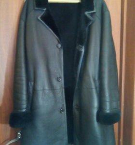 Куртка кожаная мужская. XL. Торг.