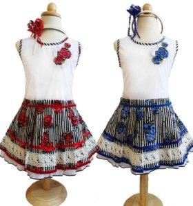 Платье ViDay -новое 122-134см 40353 синий