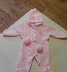 Детский вязанный комбинезон