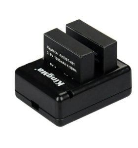 Зарядное и 2 аккумулятора для Gopro4