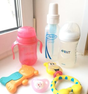 Детские бутылочки DrBrown's, Погремушки, ложки