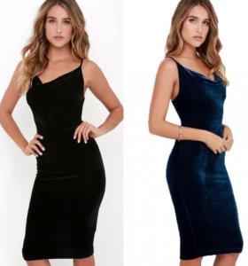 Новые платья бархат
