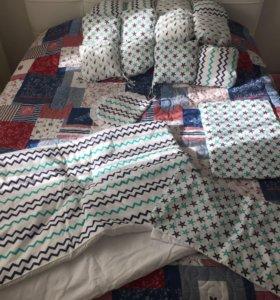Бортики для кроватки комплектом