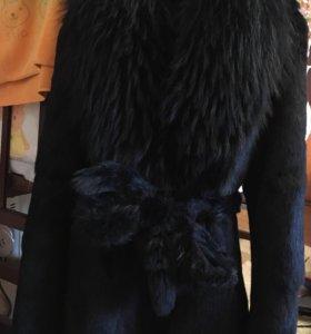 Шуба из натурального меха кролика