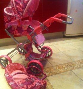 Коляска для кукол. Розовая.