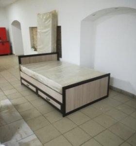 Кровать ящиками матрасом