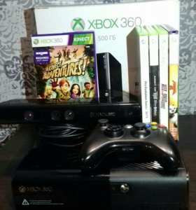 Xbox 360 500Gb+kinect,2 джойстика