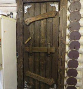 Двери деревянные под старину. Массив. Сосна