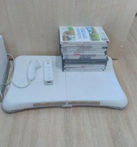 Nintendo Wii (чипованый полная комплектация) 14игр