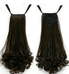 Волосы на заколках (хвост)