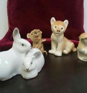 Фигурки лфз, животные львенок, обезьяны, медведь