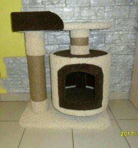 Домик для кошек из комбинированного ковролина