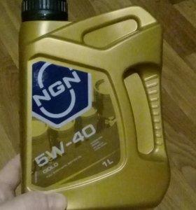 Моторное масло 5w40 ngn 1 литр