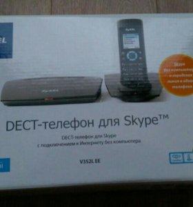 Телефон беспроводной dect для Skype Zyxel V352L