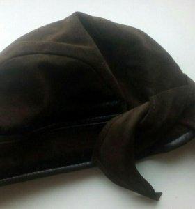 Новая замшевая шапка