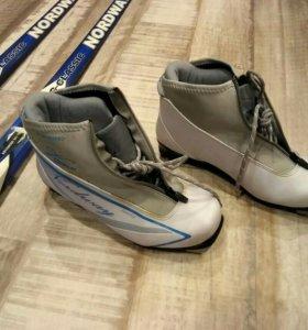 Лыжи, ботинки