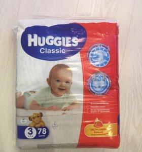 Памперсы Huggies classic, 3