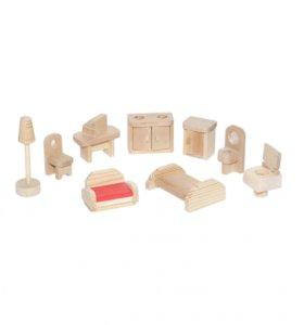 Мебель для кукольного домика, 14 шт