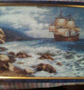 """Картина """"Кораблик в море"""""""