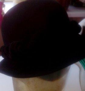 Шляпка натуральный фетр