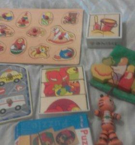 Деревянные игрушки пакет