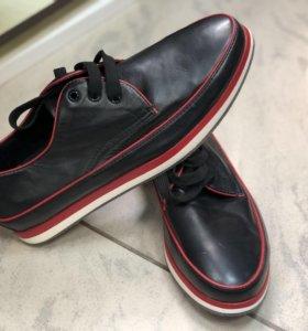 Туфли -ботинки кожа