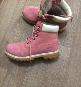 Зимние ботинки на нат замша, Нат мех 40 р-р